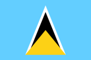 Flag of the Saint Lucian nation