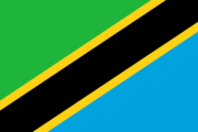 Flag of the Tanzanian nation