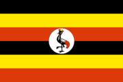 Flag of the Ugandan nation